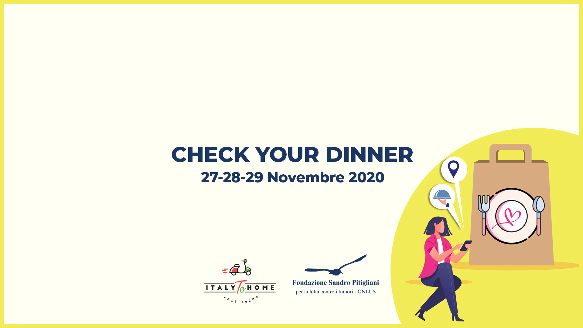 Check your dinner, evento benefico